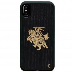 """Crafted Cover"" dabīga koka apvalks - Melns Vytis (iPhone Xr)"