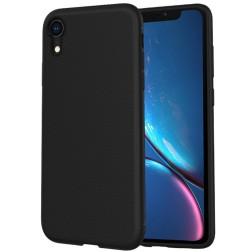 """Lenuo"" cieta silikona (TPU) apvalks - melns (iPhone Xr)"