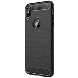 """Carbon"" cieta silikona (TPU) apvalks - melns (iPhone Xs Max)"