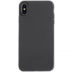 Cieta silikona apvalks - melns (iPhone Xs Max)