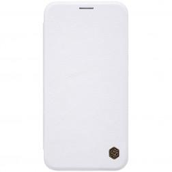 """Nillkin"" Qin atvēramais maciņš - balts (iPhone Xs Max)"