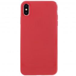 Cieta silikona apvalks - sarkans (iPhone Xs Max)