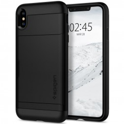 """Spigen"" Slim Armor CS apvalks - melns (iPhone Xs Max)"