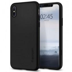 """Spigen"" Thin Fit 360 futrālis - melns + ekrāna aizsargstikls (iPhone Xs Max)"