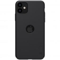 """Nillkin"" Frosted Shield Logo apvalks - melns (iPhone 11)"