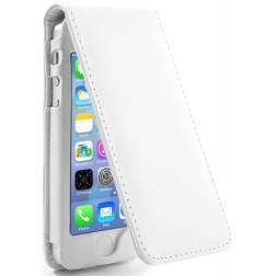 Vertikāli atvēramais futrālis - balts (iPhone 5 / 5S)