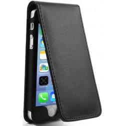 Vertikāli atvēramais futrālis - melns (iPhone 5 / 5S)