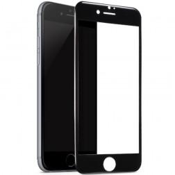 """""""Devia"""" Tempered Glass ekrāna aizsargstikls 0.18 mm - melns + aizsargplēve aizmugurējām vāciņam (iPhone 7 Plus / 8 Plus)"""