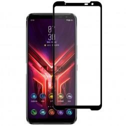 """""""Mocolo"""" Tempered Glass pilnīgi aizsedzams ekrāna aizsargstikls 0.2 mm - melns (Rog Phone 3)"""