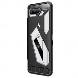 """Carbon"" cieta silikona (TPU) apvalks - melns (Rog Phone 5)"