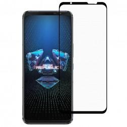 """""""Premium"""" Tempered Glass pilnīgi aizsedzams ekrāna aizsargstikls 0.2 mm - melns (Rog Phone 5)"""