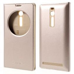"""""""Smart Window"""" atvēramais ādas maciņš - zelta (Zenfone 2 5.5)"""