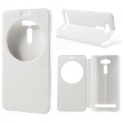 """""""View Window"""" atvēramais ādas maciņš - balts (Zenfone 2 Laser 6.0)"""