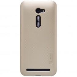 """""""Nillkin"""" Frosted Shield apvalks - zelta + ekrāna aizsargplēve (Zenfone 2 5.0)"""