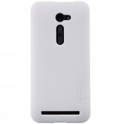 """""""Nillkin"""" Frosted Shield apvalks - balts + ekrāna aizsargplēve (Zenfone 2 5.0)"""
