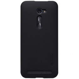 """""""Nillkin"""" Frosted Shield apvalks - melns + ekrāna aizsargplēve (Zenfone 2 5.0)"""