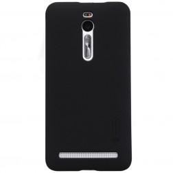 """""""Nillkin"""" Frosted Shield apvalks - melns + ekrāna aizsargplēve (Zenfone 2 5.5)"""