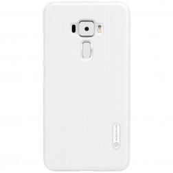 """""""Nillkin"""" Frosted Shield apvalks - balts + ekrāna aizsargplēve (Zenfone 3 5.5)"""