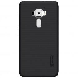 """""""Nillkin"""" Frosted Shield apvalks - melns + ekrāna aizsargplēve (Zenfone 3 5.5)"""