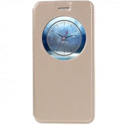 """""""Smart Window"""" atvēramais ādas maciņš - zelta (Zenfone 3 5.2)"""
