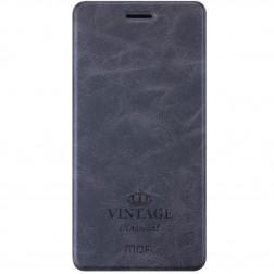 """Mofi"" Vintage atvērams maciņš - melns (Zenfone 3 5.5)"