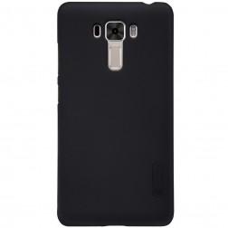 """Nillkin"" Frosted Shield apvalks - melns + ekrāna aizsargplēve (Zenfone 3 Laser)"
