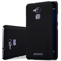"""Nillkin"" Frosted Shield apvalks - melns + ekrāna aizsargplēve (Zenfone 3 Max)"