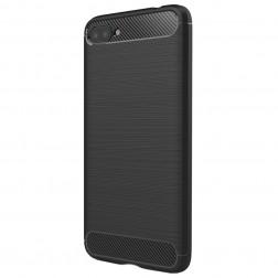 """Carbon"" cieta silikona (TPU) apvalks - melns (Zenfone 4 Max)"