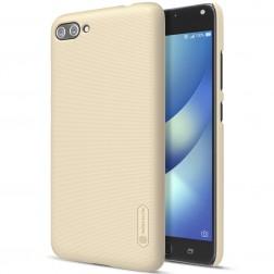 """""""Nillkin"""" Frosted Shield apvalks - zelta + ekrāna aizsargplēve (Zenfone 4 Max)"""