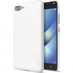 """""""Nillkin"""" Frosted Shield apvalks - balts + ekrāna aizsargplēve (Zenfone 4 Max)"""