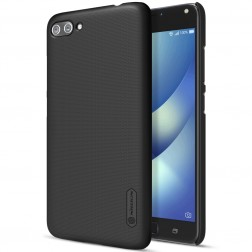 """Nillkin"" Frosted Shield apvalks - melns + ekrāna aizsargplēve (Zenfone 4 Max)"