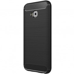 """Carbon"" cieta silikona (TPU) apvalks - melns (Zenfone 4 Selfie Pro)"