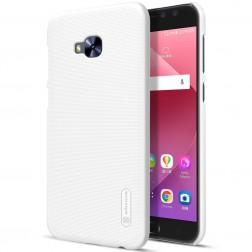 """""""Nillkin"""" Frosted Shield apvalks - balts + ekrāna aizsargplēve (Zenfone 4 Selfie Pro)"""