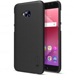 """""""Nillkin"""" Frosted Shield apvalks - melns + ekrāna aizsargplēve (Zenfone 4 Selfie Pro)"""