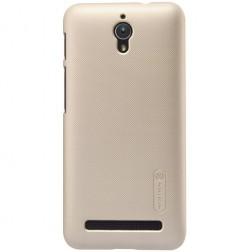 """""""Nillkin"""" Frosted Shield apvalks - zelta + ekrāna aizsargplēve (Zenfone C 4.5)"""
