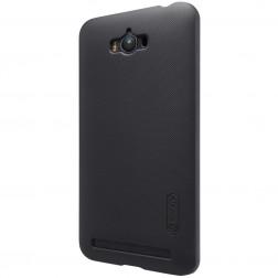 """Nillkin"" Frosted Shield apvalks - melns + ekrāna aizsargplēve (Zenfone Max)"