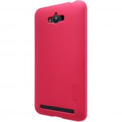 """Nillkin"" Frosted Shield apvalks - sarkans + ekrāna aizsargplēve (Zenfone Max)"