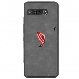 """Bi-Color"" Splicing ādas apvalks - melns (Rog Phone 3)"