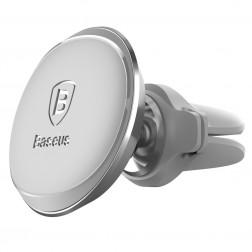 """""""Baseus"""" Magnet Mount (360°) automašīnas telefona turētājs (restēm) - sudrabs"""