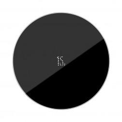 """Baseus"" Simple kompakts bezvadu lādētājs - melns (18W)"