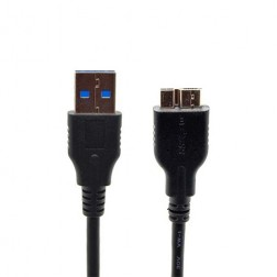 Micro USB 3.0 vads - melns (1 m.)