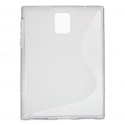 Cieta silikona (TPU) dzidrs apvalks - pelēks (Passport)