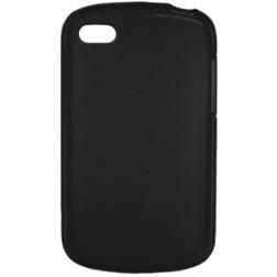 Cieta silikona futrālis - melns (Q10)