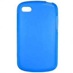 Cieta silikona futrālis - zils (Q10)