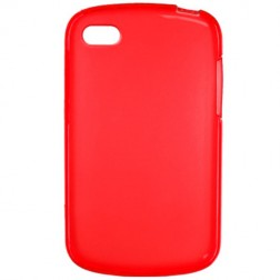 Cieta silikona futrālis - sarkans (Q10)
