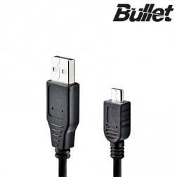 """Bullet"" micro USB vads - melns (1 m.)"