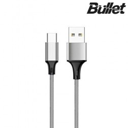 """Bullet"" USB Type-C vads - pelēks (1 m.)"