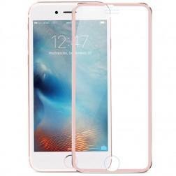 """""""Calans"""" Tempered Glass pilnīgi aizsedzams ekrāna aizsargstikls 0.2 mm - rozs (iPhone 7 Plus / 8 Plus)"""
