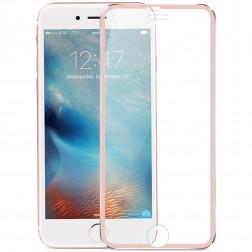 """""""Calans"""" Tempered Glass pilnīgi aizsedzams ekrāna aizsargstikls 0.2 mm - rozs (iPhone 7 / 8)"""