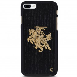"""Crafted Cover"" dabīga koka apvalks - Melns Vytis (iPhone 7 Plus / 8 Plus)"